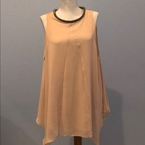 Coast Blush Pink Tunic with Beautiful Beaded Neck